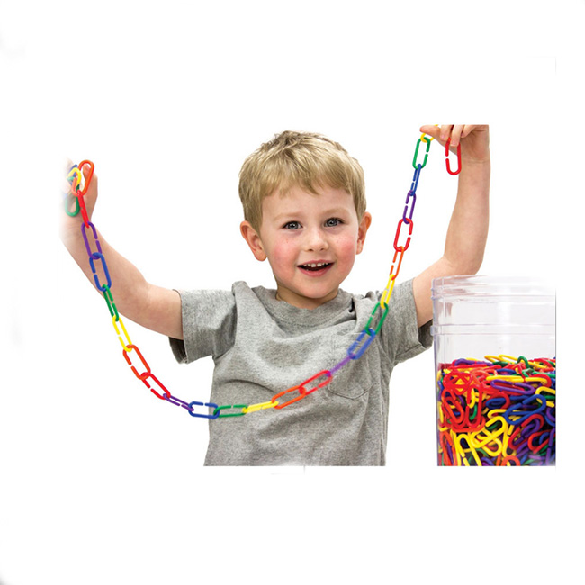 Link 'N' Learn® Rainbow Links in a Bucket, Set of 1000/6 Colours ...